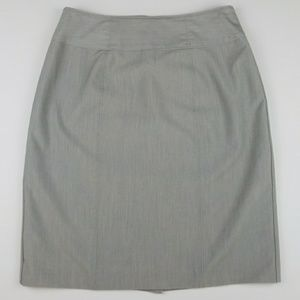 Worthington pearl gray career stretch pencil skirt